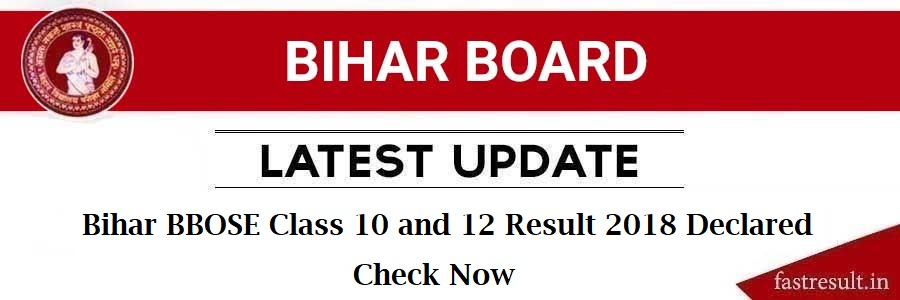 Bihar BBOSE Class 10 and 12 Result 2018 Declared Check Now
