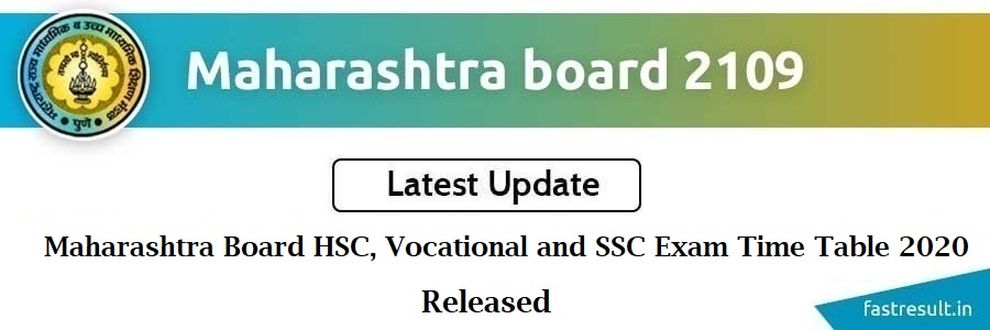 Maharashtra Board HSC, Vocational and SSC Exam Time Table 2020 Released