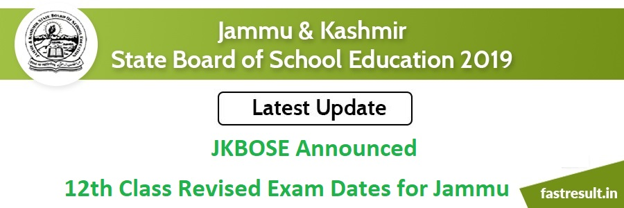 JKBOSE Announced 12th Class Revised Exam Dates for Jammu